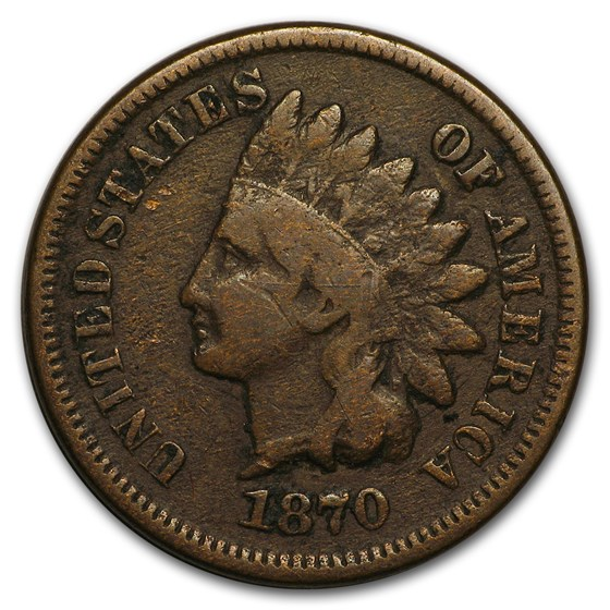 1870 Indian Head Cent VG