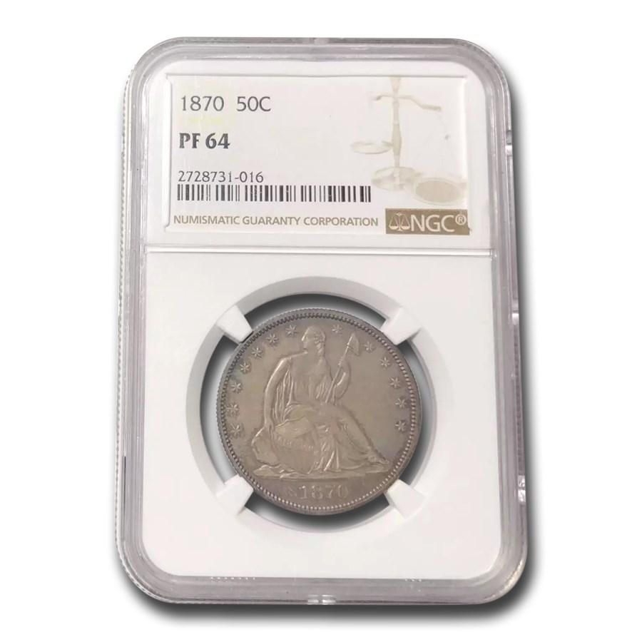1870 Liberty Seated Half Dollar PF-64 NGC