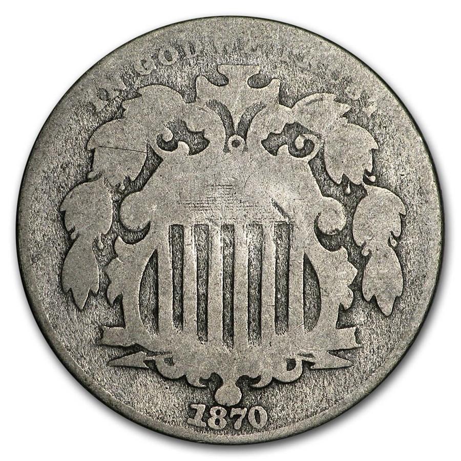 1870 Shield Nickel AG