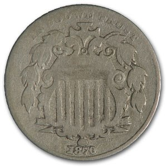 1870 Shield Nickel VG
