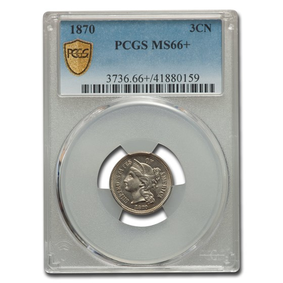 1870 Three Cent Nickel MS-66+ PCGS