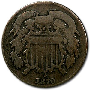 1870 Two Cent Piece Good