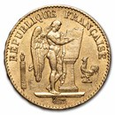 1871-1898 France Gold 20 Francs Lucky Angel (AU)