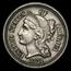 1871 3 Cent Nickel AU