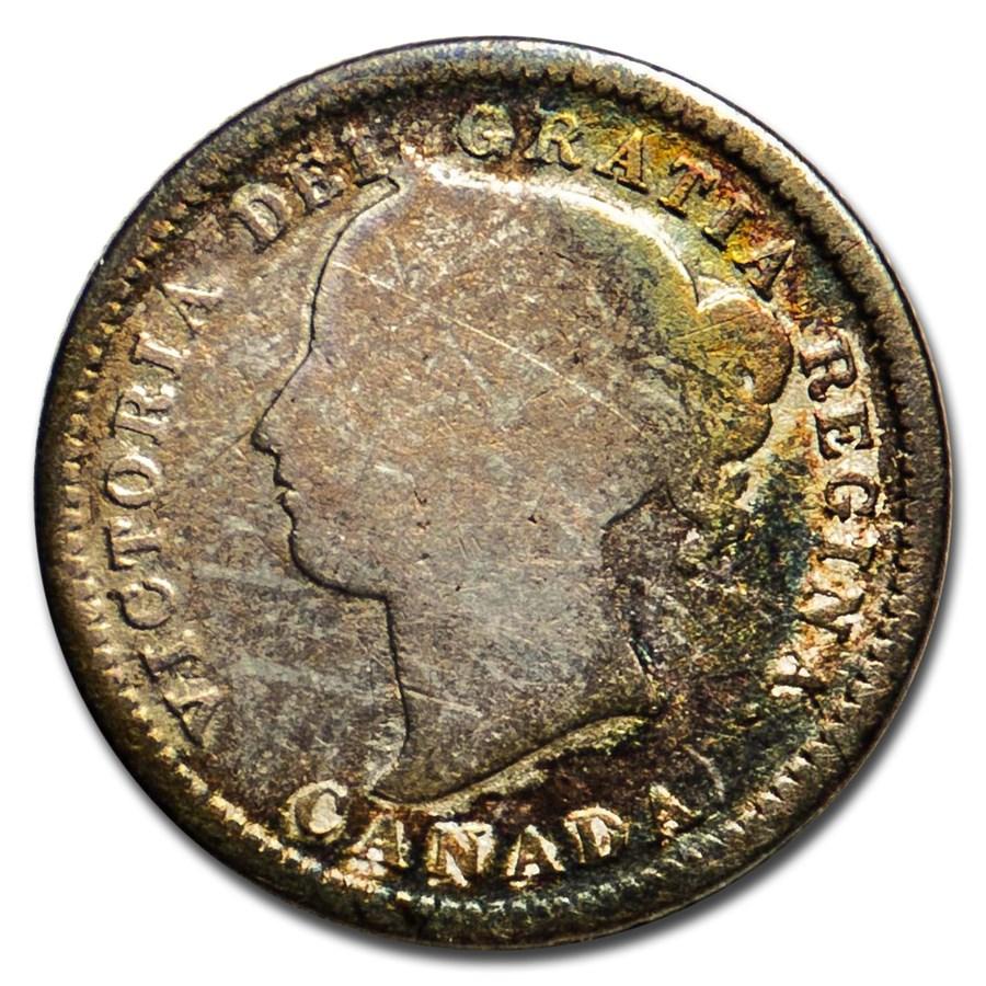 1871 Canada 10 Cents Good