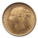 1871 Great Britain Gold Sovereign Victoria MS-64 NGC