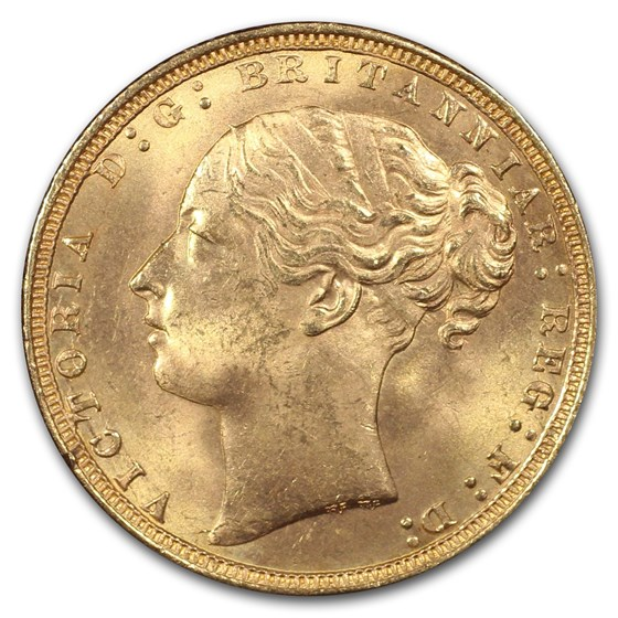 1871 Great Britain Gold Sovereign Victoria Shield MS-65 PCGS