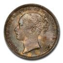 1871 Great Britain Silver Shilling Queen Victoria MS-65 PCGS
