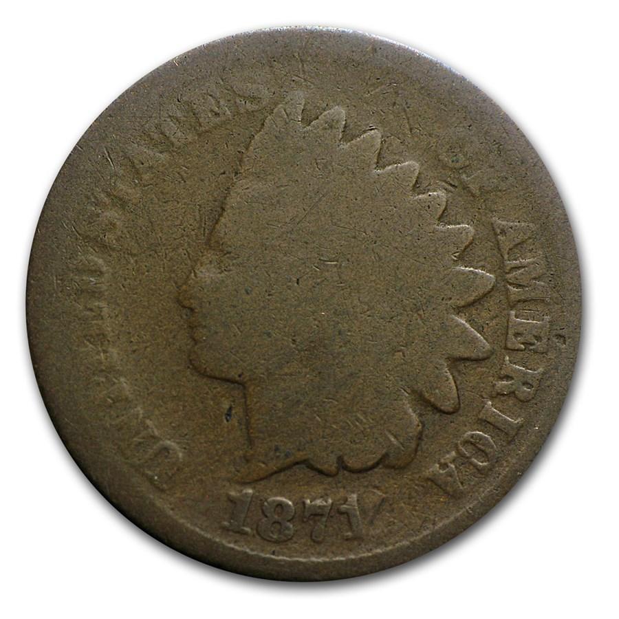 1871 Indian Head Cent AG