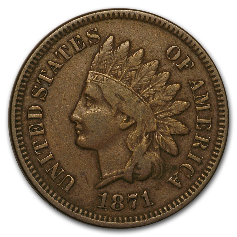 1871 Indian Head Cent Fine