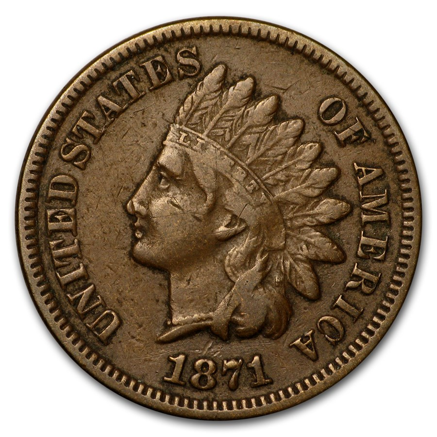 1871 Indian Head Cent VF