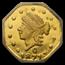 1871 Liberty Octagonal 25¢ Gold MS-64 DPL NGC (BG-765)