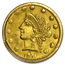 1871 Liberty Round 25 Cent Gold MS-63 PCGS (BG-864)