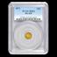 1871 Liberty Round 25¢ Gold MS-62 PCGS (BG-839)