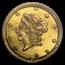 1871 Liberty Round 50 Cent Gold AU-55 PCGS (BG-1011)
