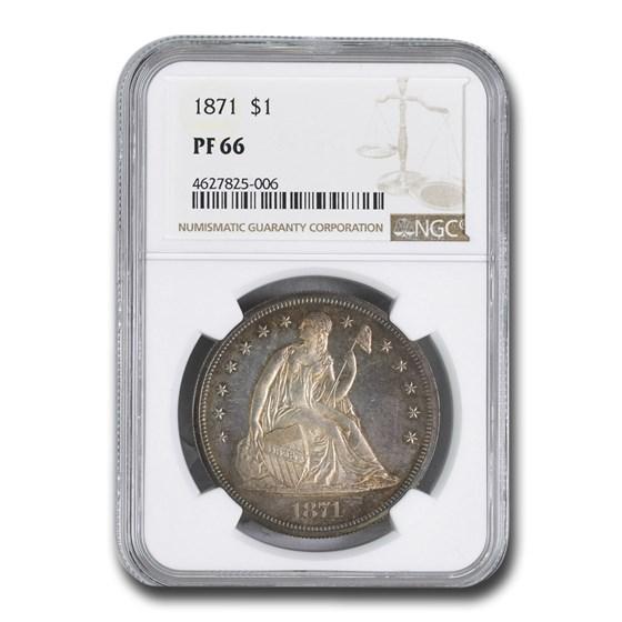 1871 Liberty Seated Dollar PF-66 NGC