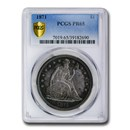 1871 Liberty Seated Dollar PR-65 PCGS