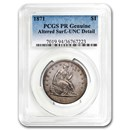 1871 Liberty Seated Dollar Proof Genuine PCGS