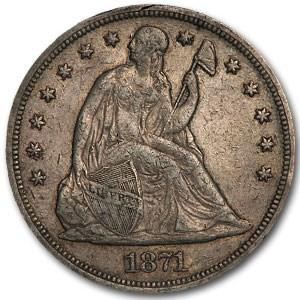 1871 Liberty Seated Dollar XF