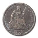 1871 Liberty Seated Half Dime VG