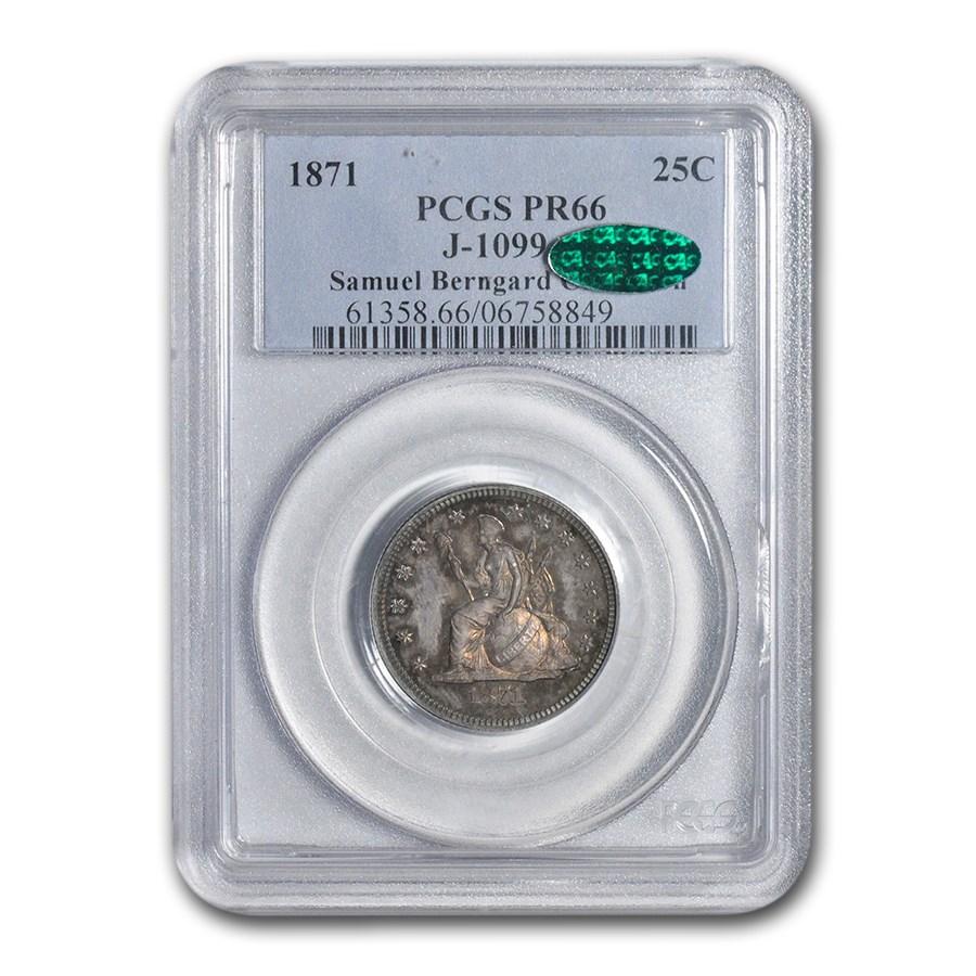 1871 Liberty Seated Quarter Pattern PR-66 PCGS CAC (J-1099)