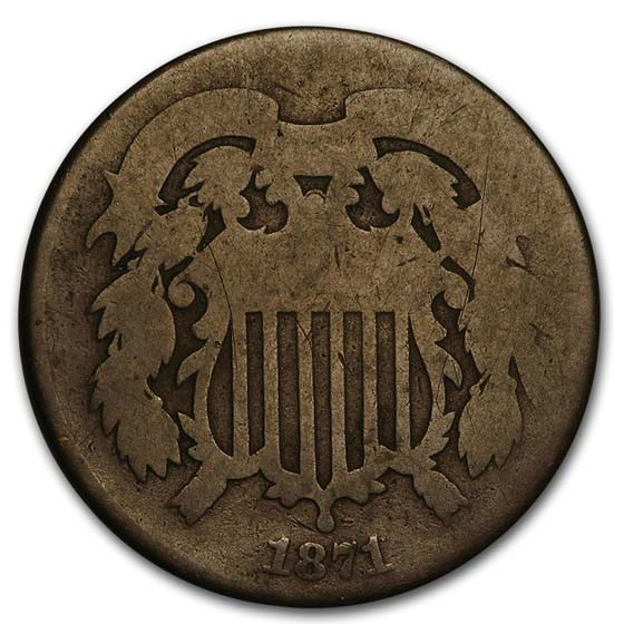 1871 Two Cent Piece AG