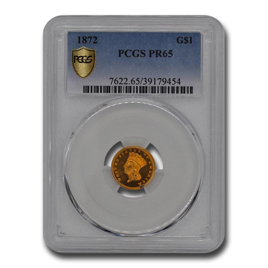 1872 $1 Indian Head Gold Dollar PR-65 PCGS