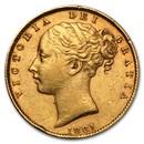 1872-1887-M Australia Gold Sovereign Victoria Shield Avg Circ
