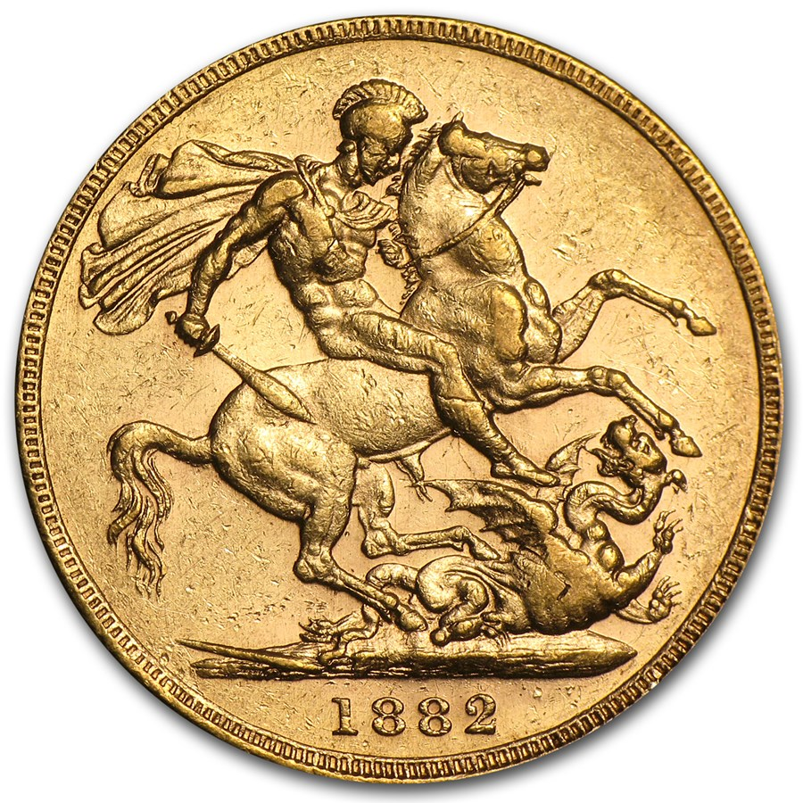 1872-1887-M Australia Gold Sovereign Young Victoria AU