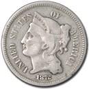 1872 3 Cent Nickel VG