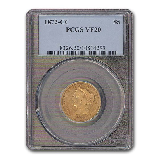 1872-CC $2.50 Liberty Gold Quarter Eagle VF-20 PCGS