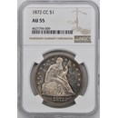 1872-CC Liberty Seated Dollar AU-55 NGC
