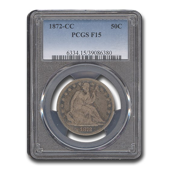1872-CC Liberty Seated Half Dollar Fine-15 PCGS