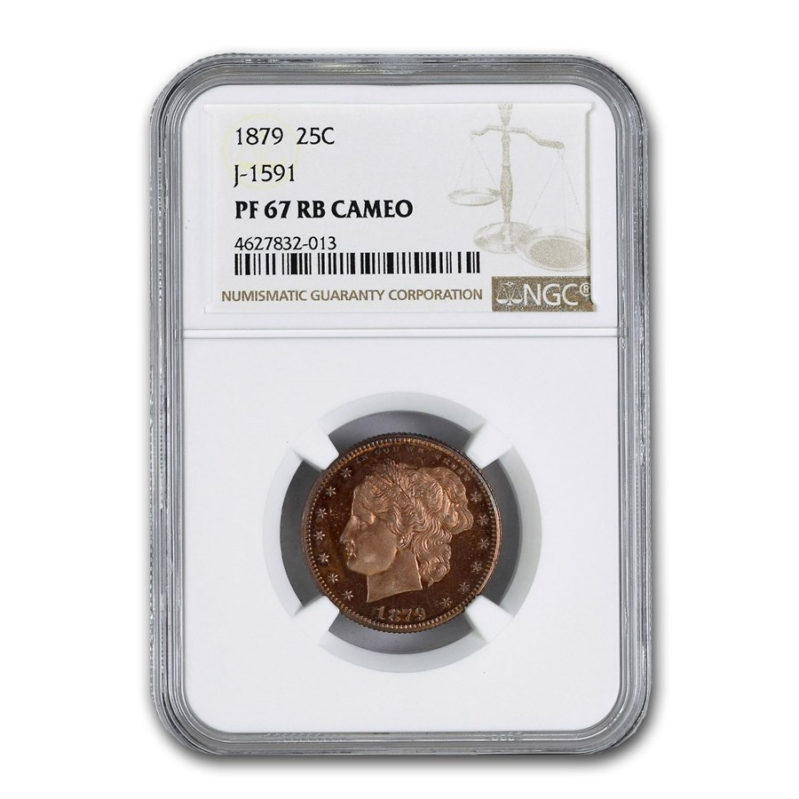 1872 Copper 25¢ Pattern PF-67 Cameo NGC (J-1591, Red/Brown)