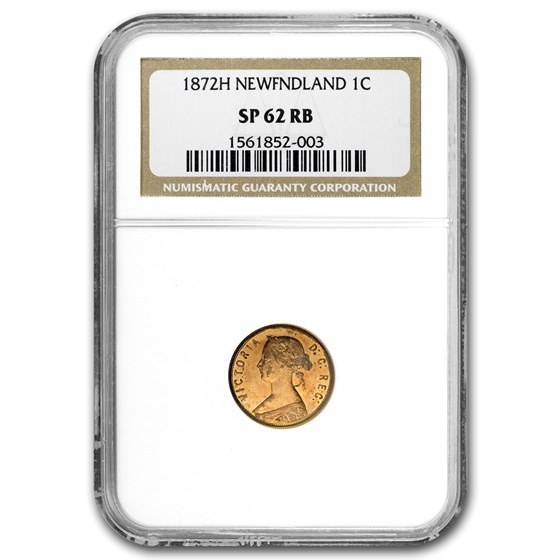 1872-H Newfoundland Cent SP-62 NGC (Red/Brown)