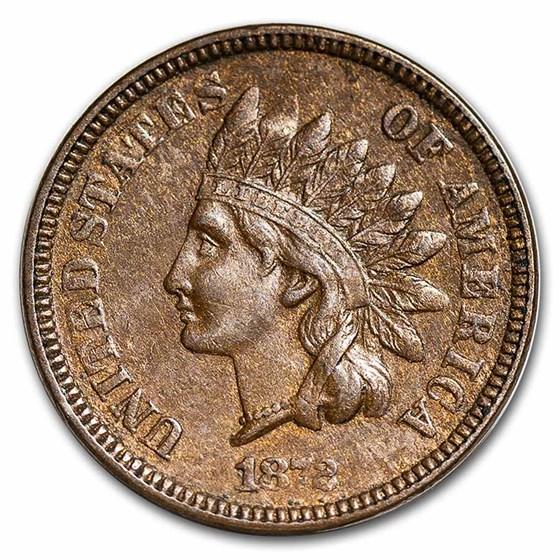 1872 Indian Head Cent AU