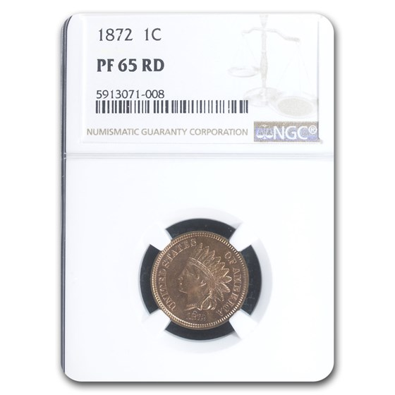 1872 Indian Head Cent PF-65 NGC (Red/Brown)