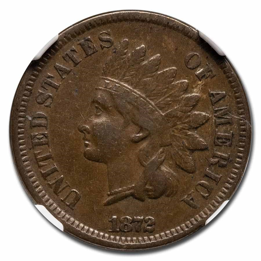 1872 Indian Head Cent VF-35 NGC
