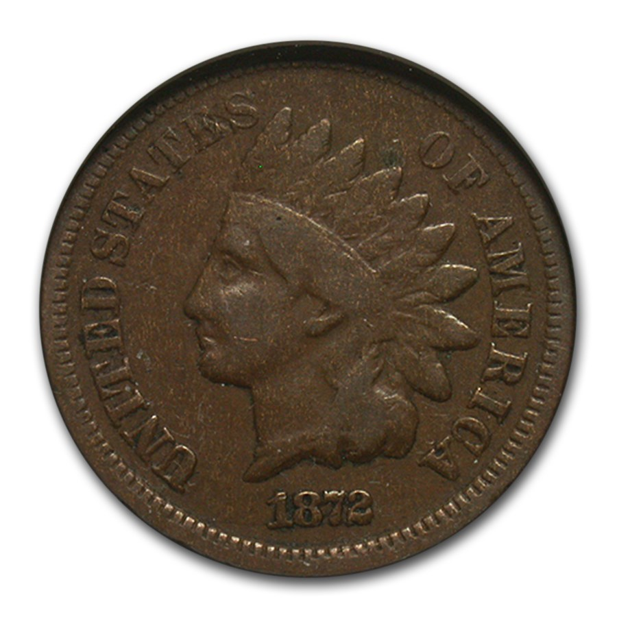 1872 Indian Head Cent VG-10 NGC