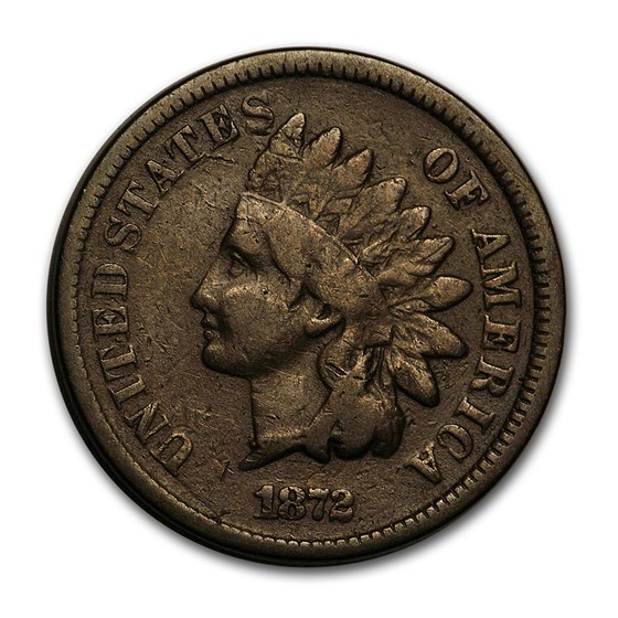 1872 Indian Head Cent VG