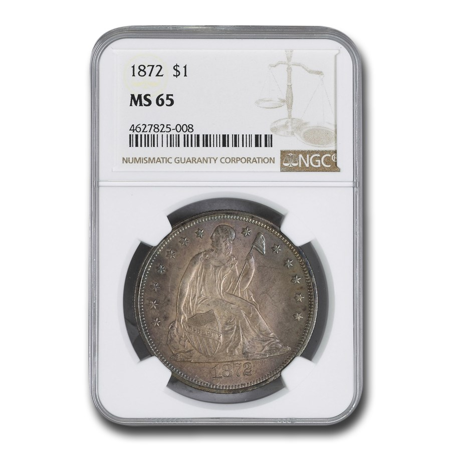1872 Liberty Seated Dollar MS-65 NGC