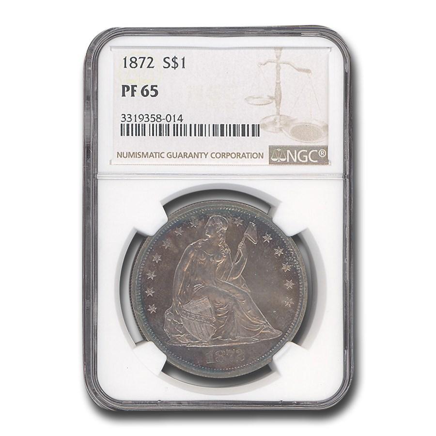 1872 Liberty Seated Dollar PF-65 NGC