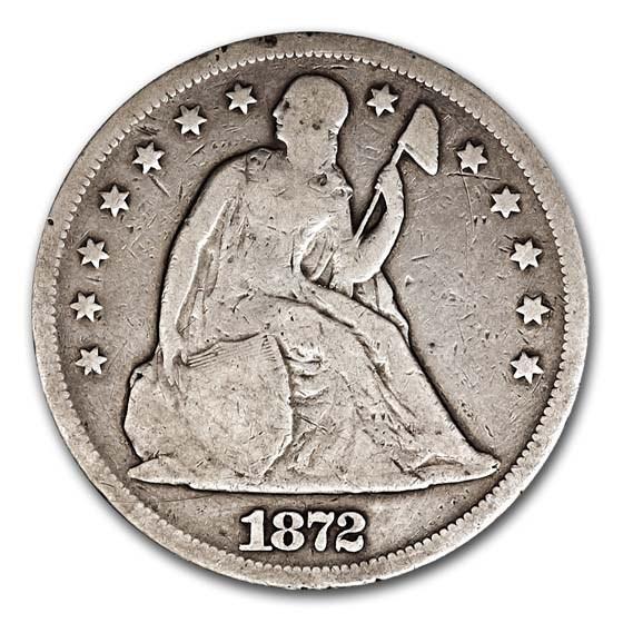 1872 Liberty Seated Dollar VG