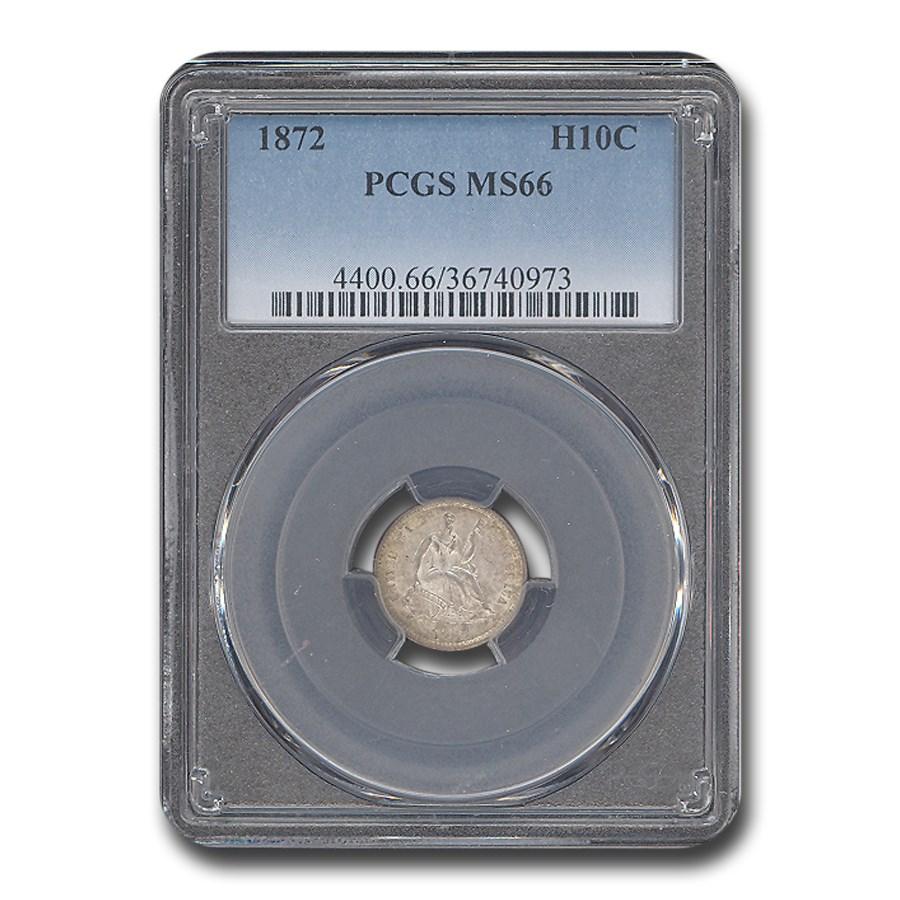 1872 Liberty Seated Half Dime MS-66 PCGS