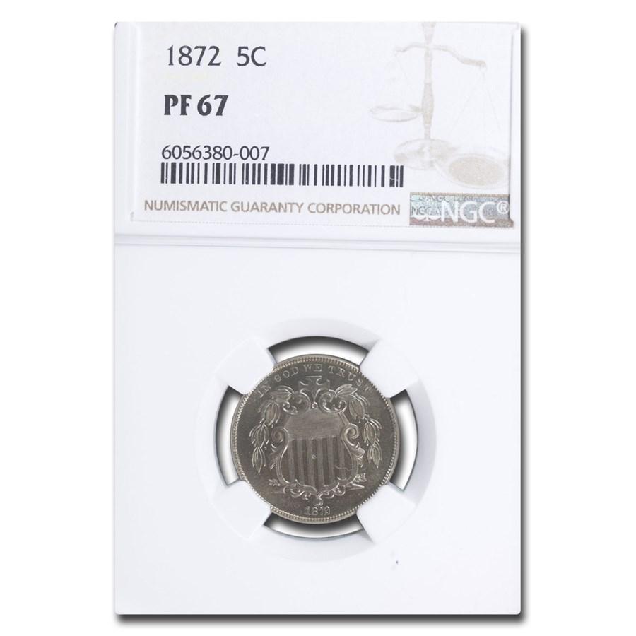 1872 Shield Nickel PF-67 NGC