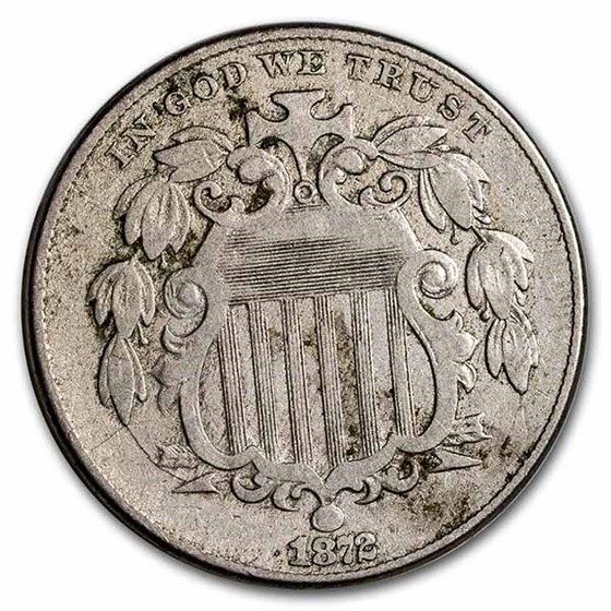 1872 Shield Nickel VG