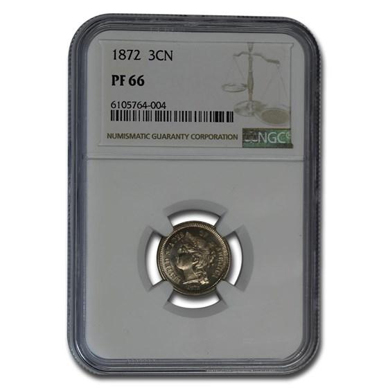 1872 Three Cent Nickel PF-66 NGC