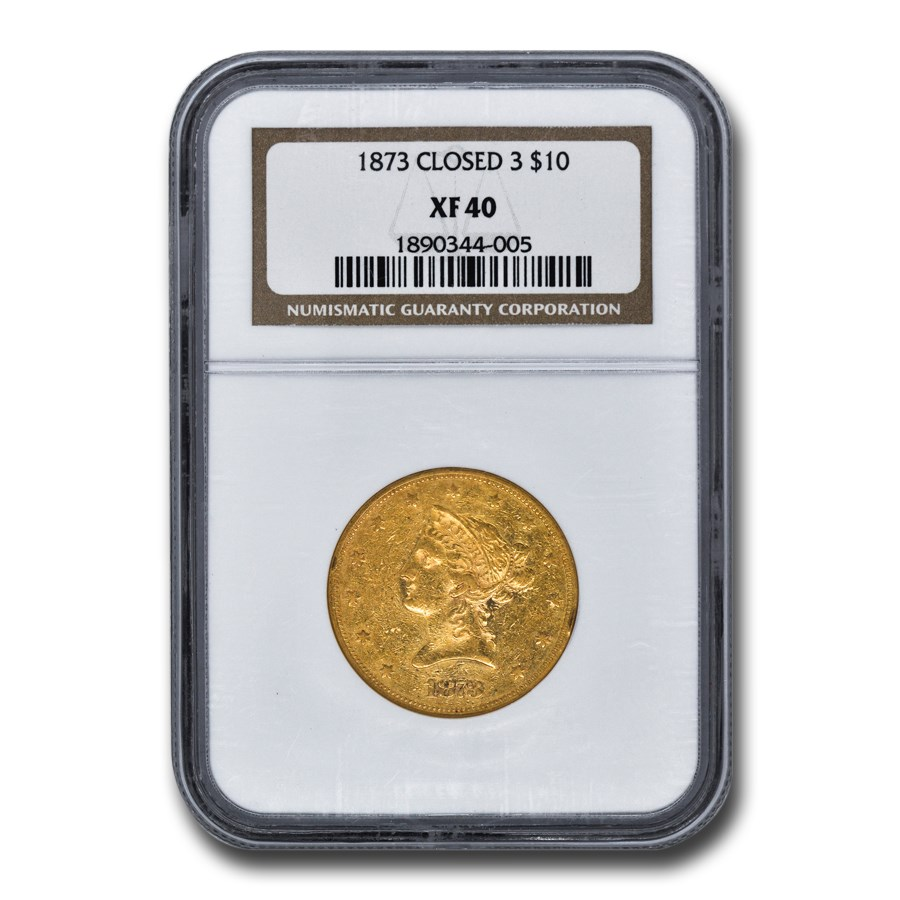 1873 $10 Liberty Gold Eagle XF-40 NGC (Closed 3)