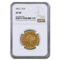 1873 $10 Liberty Gold Eagle XF-40 NGC