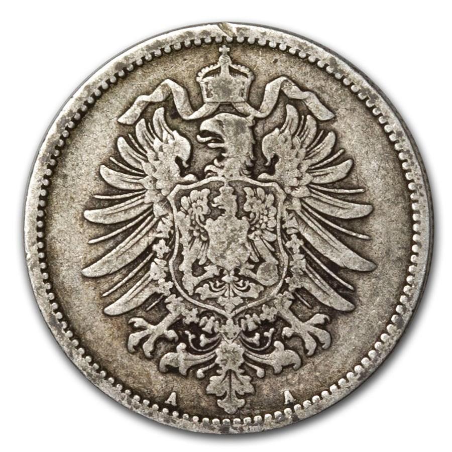 1873-1900 Germany Silver 1 Mark Avg Circ